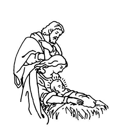 Drawings Of Christmas Ornaments.Nativity