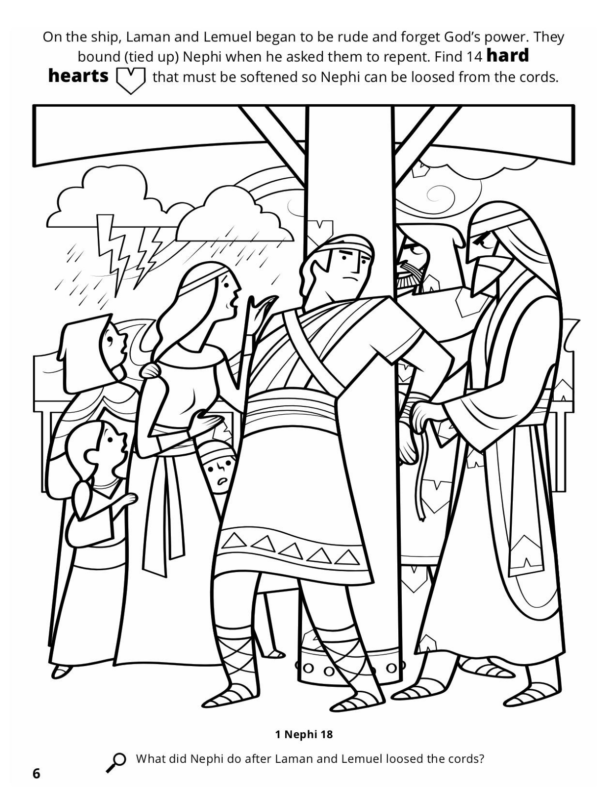 book of mormon coloring pages nephi - book of mormon coloring pages nephi coloring page