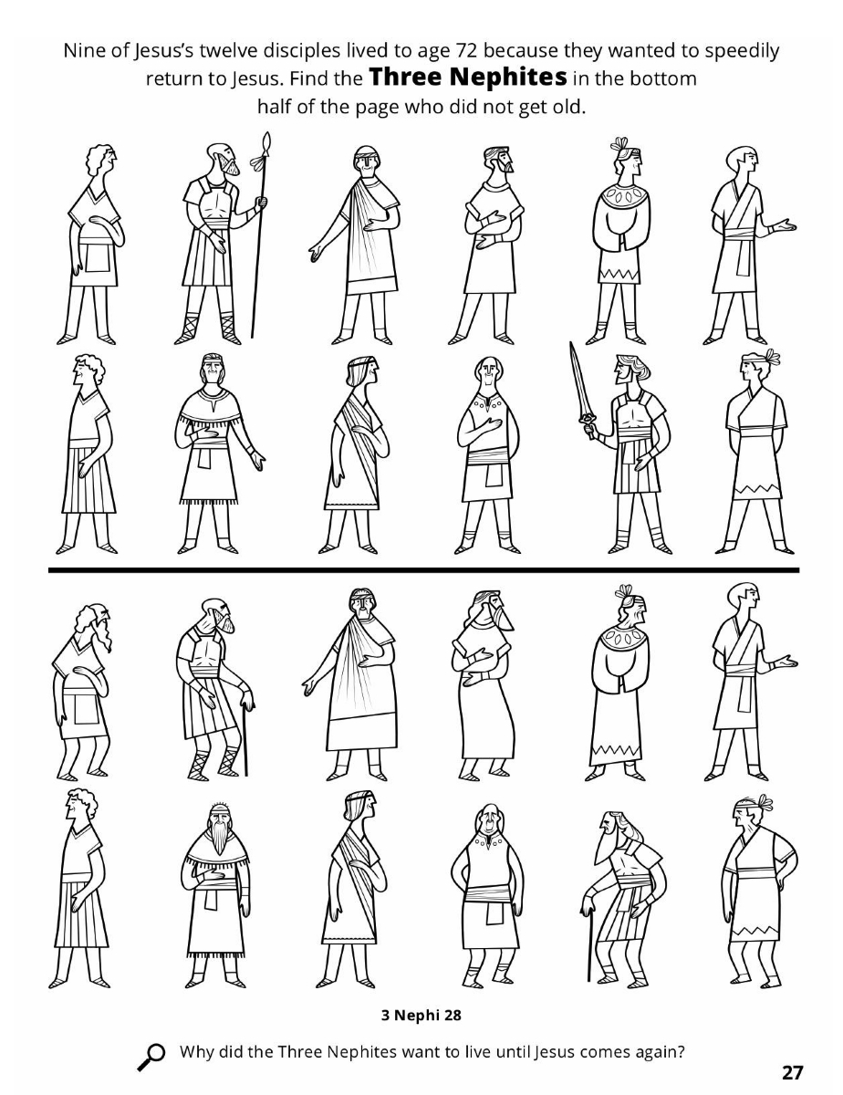 The twelve nephite disciples for 12 disciples coloring page