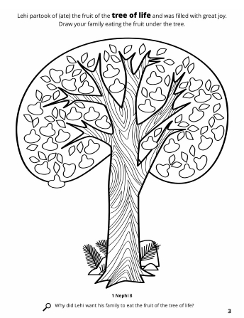 A line drawing of the tree of life.