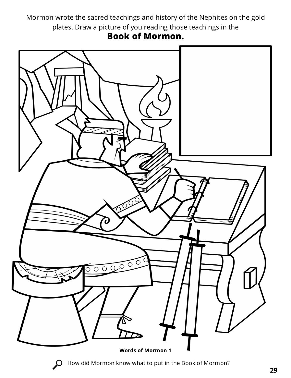 Lds Gold Plates Coloring Page