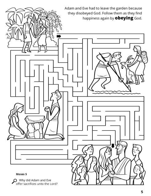 Adam and Eve in Garden of Eden Coloring Pages - Get Coloring Pages | 640x492