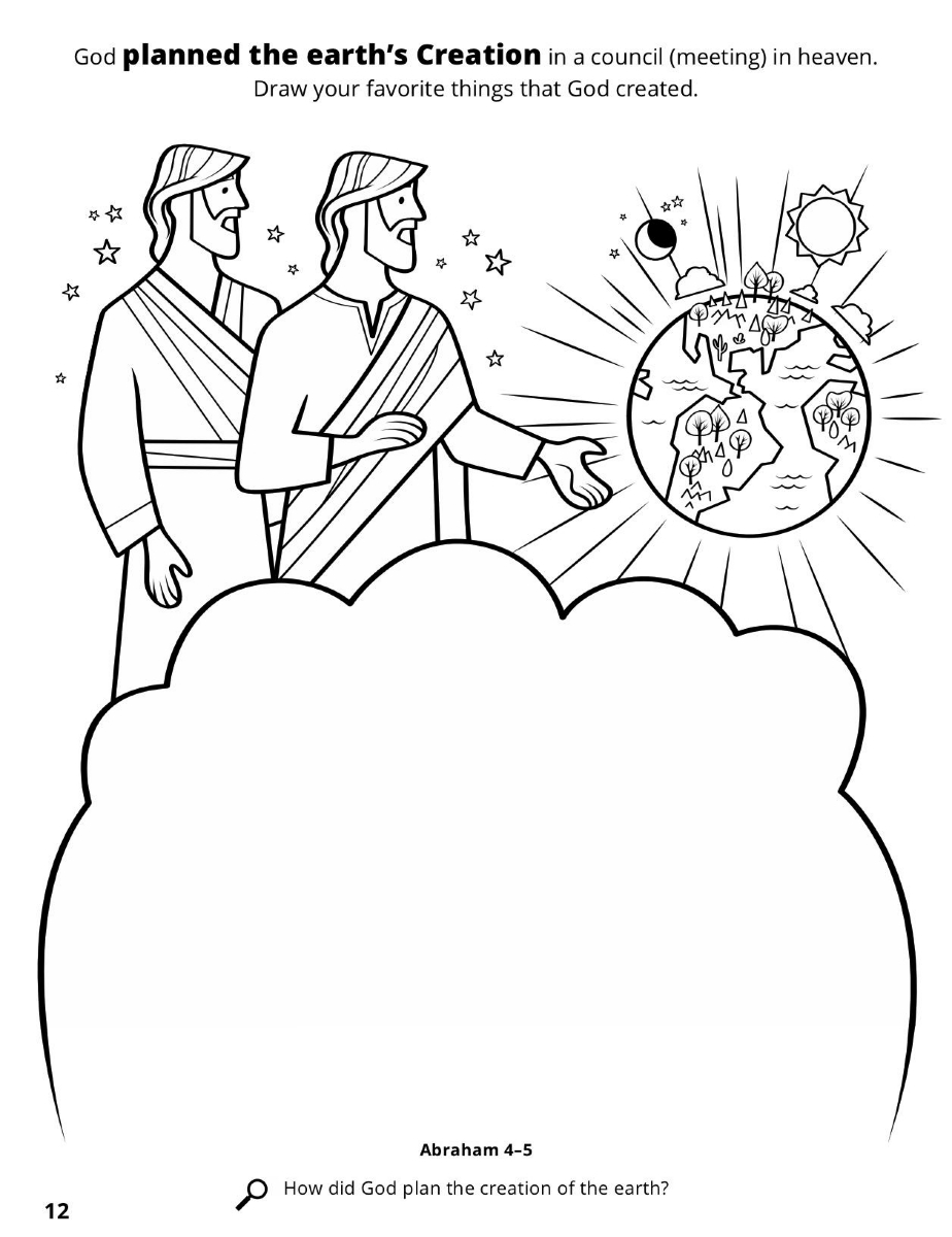 This is an image of Gorgeous God's Creation Coloring Pages