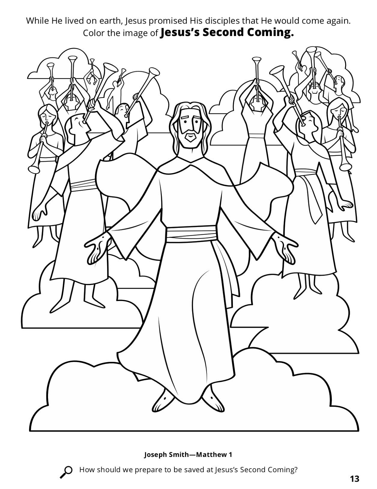 return of jesus coloring pages - photo#6