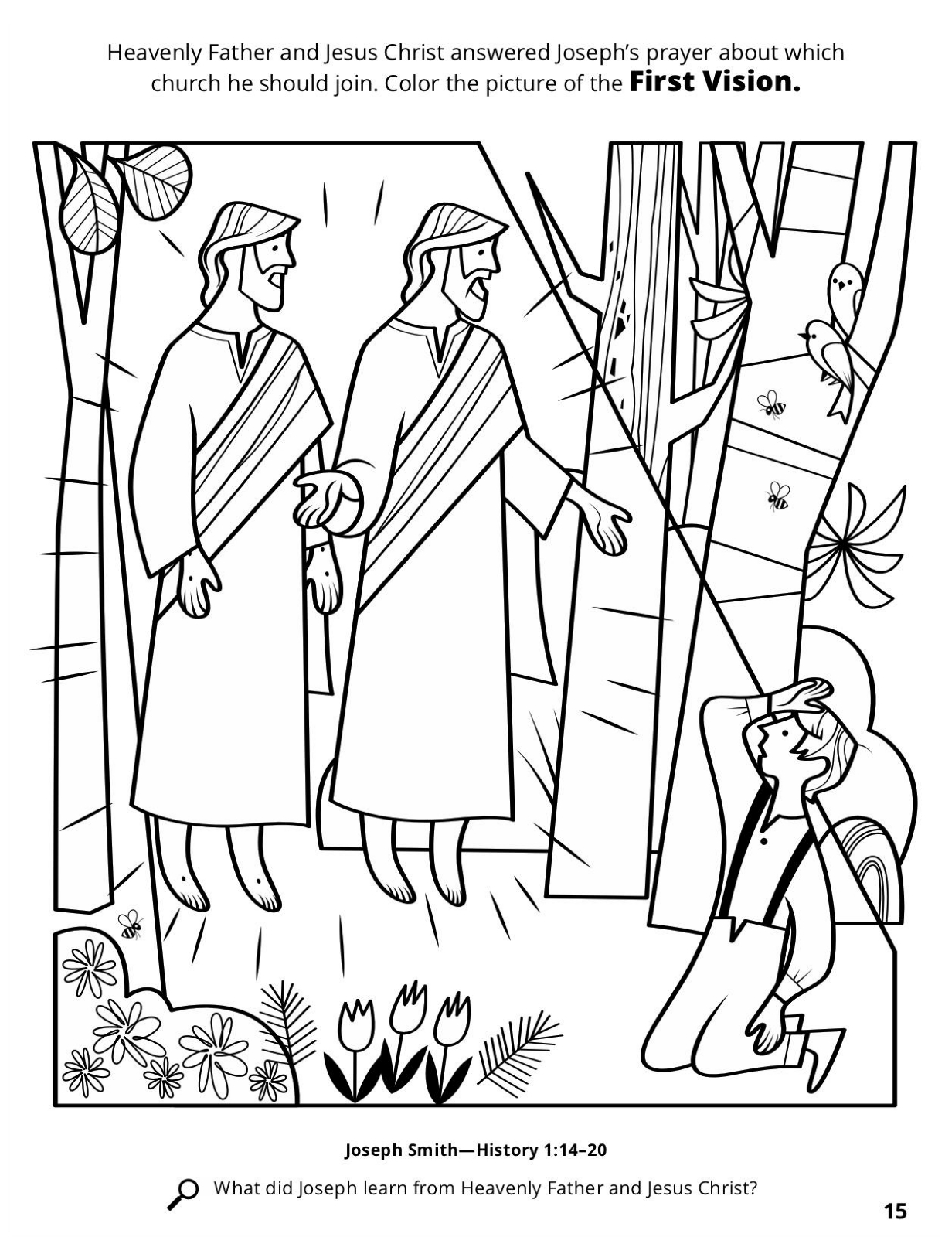 Lds Coloring Pages Of The First Vision The First Vision Joseph Sees ...