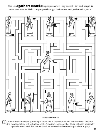 A line maze of individuals that each need to be led to Christ in the center of the maze.