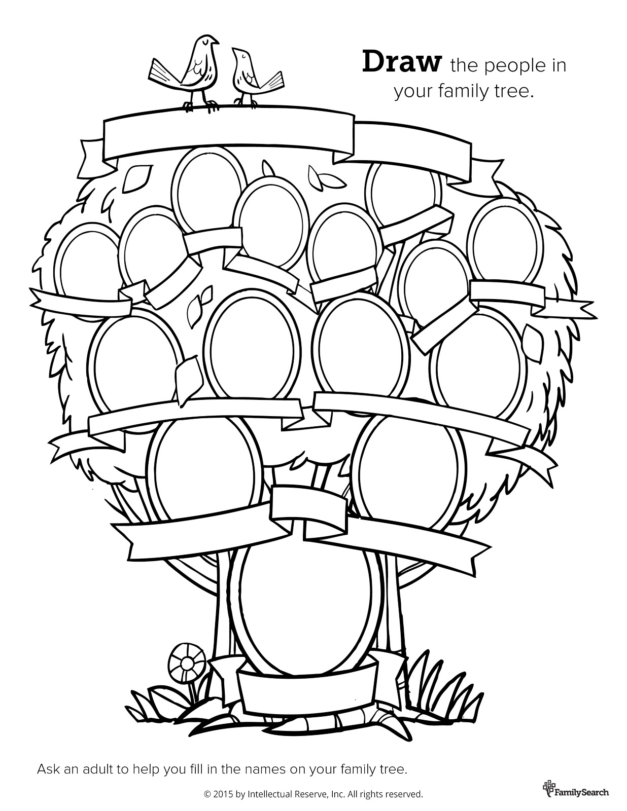 family tree coloring pages - Selo.l-ink.co