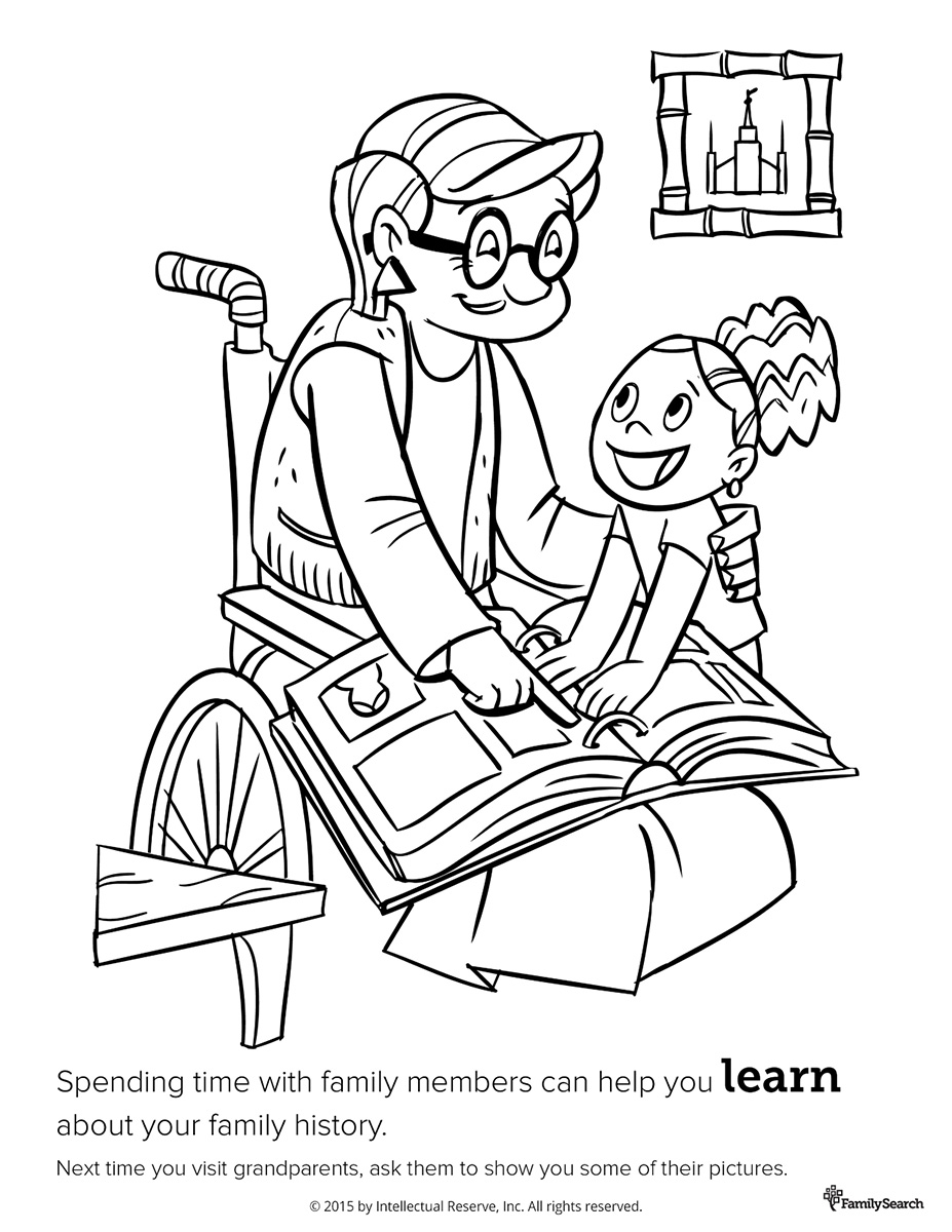 history coloring pages - family history coloring page coloring pages