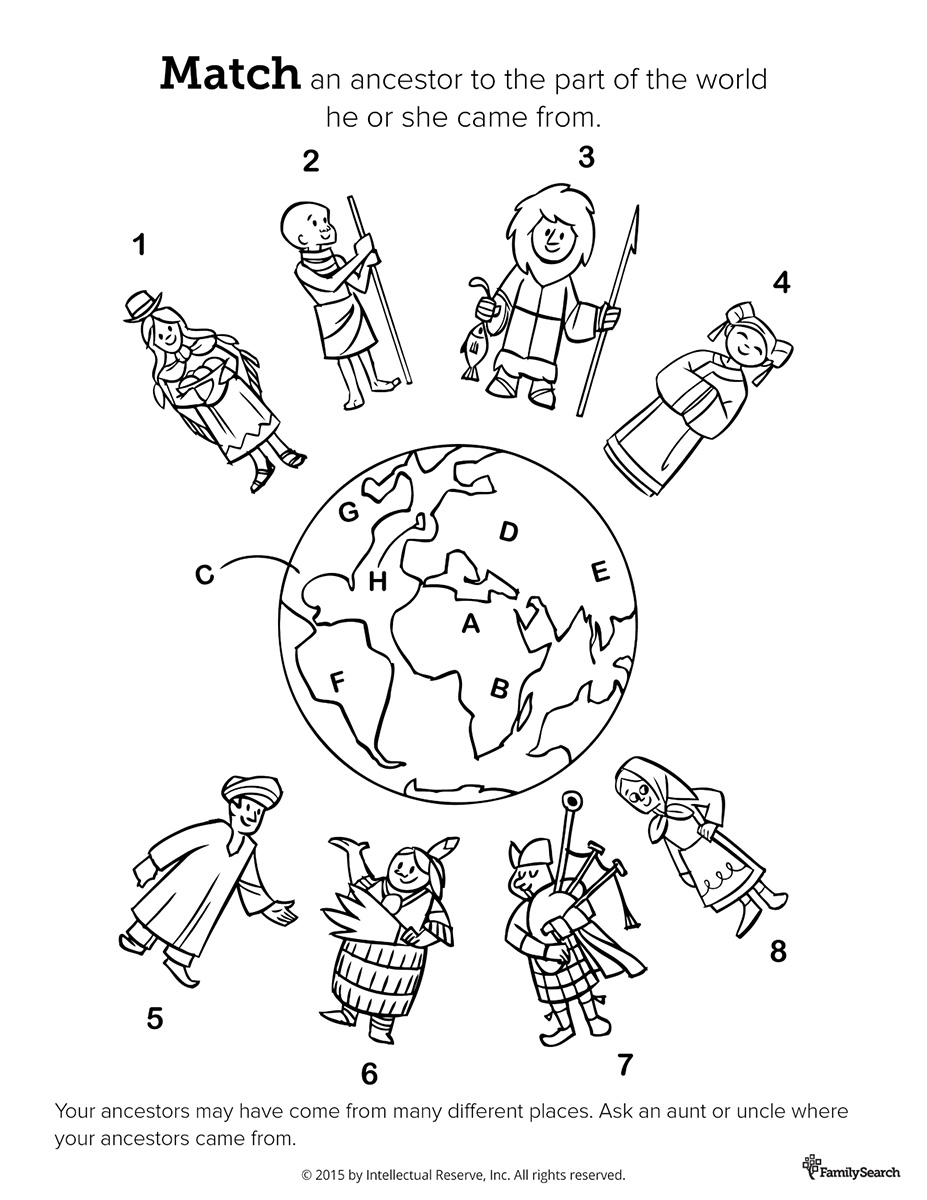 Globe Coloring Page Multicultural Crafts With Hands