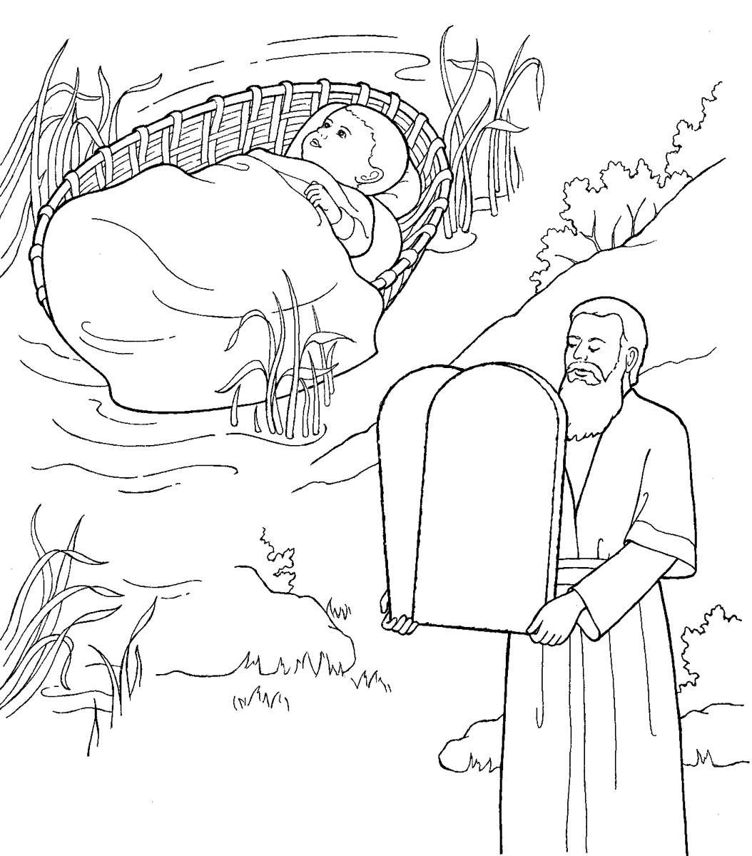 moses as a child and with the ten commandments