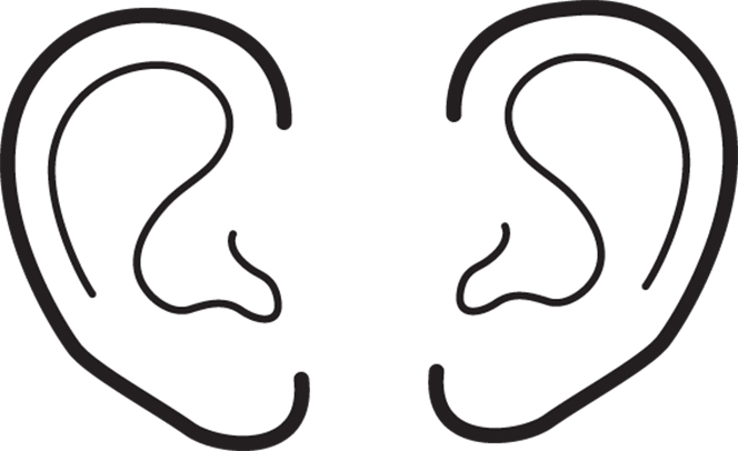 Ears for Ear coloring pages