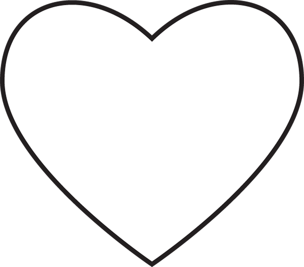 a heart coloring page - share