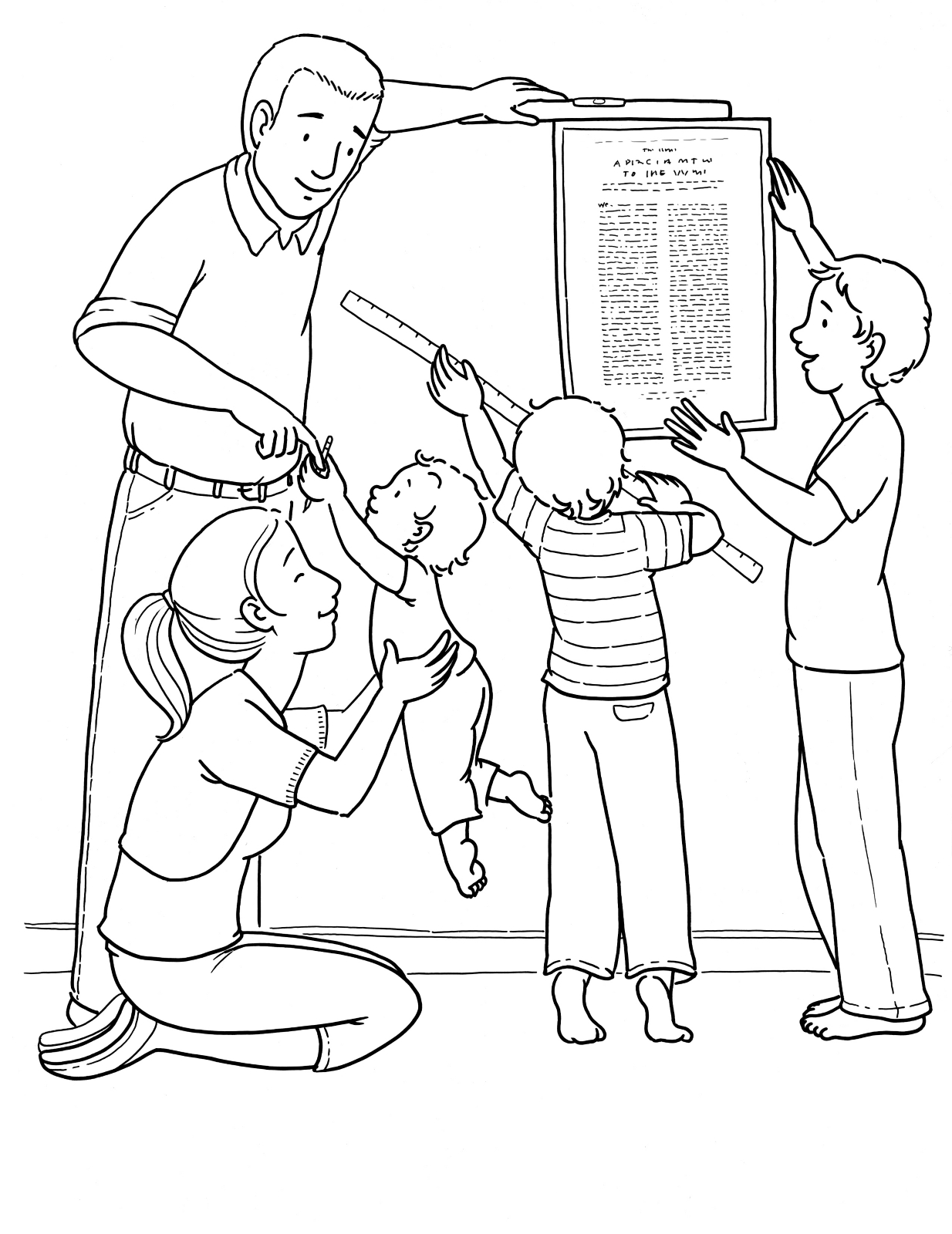 students working together coloring pages - photo#47