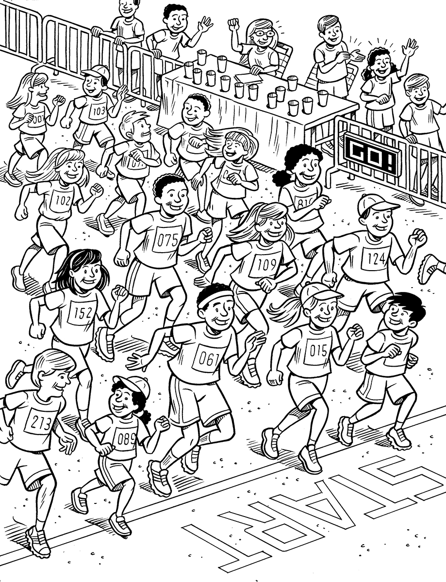 running a race coloring pages - photo#33