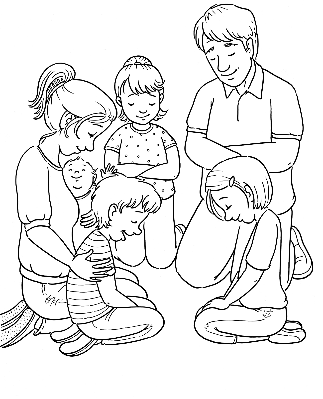 Lds Prayer Coloring Page Captivating Family Prayer