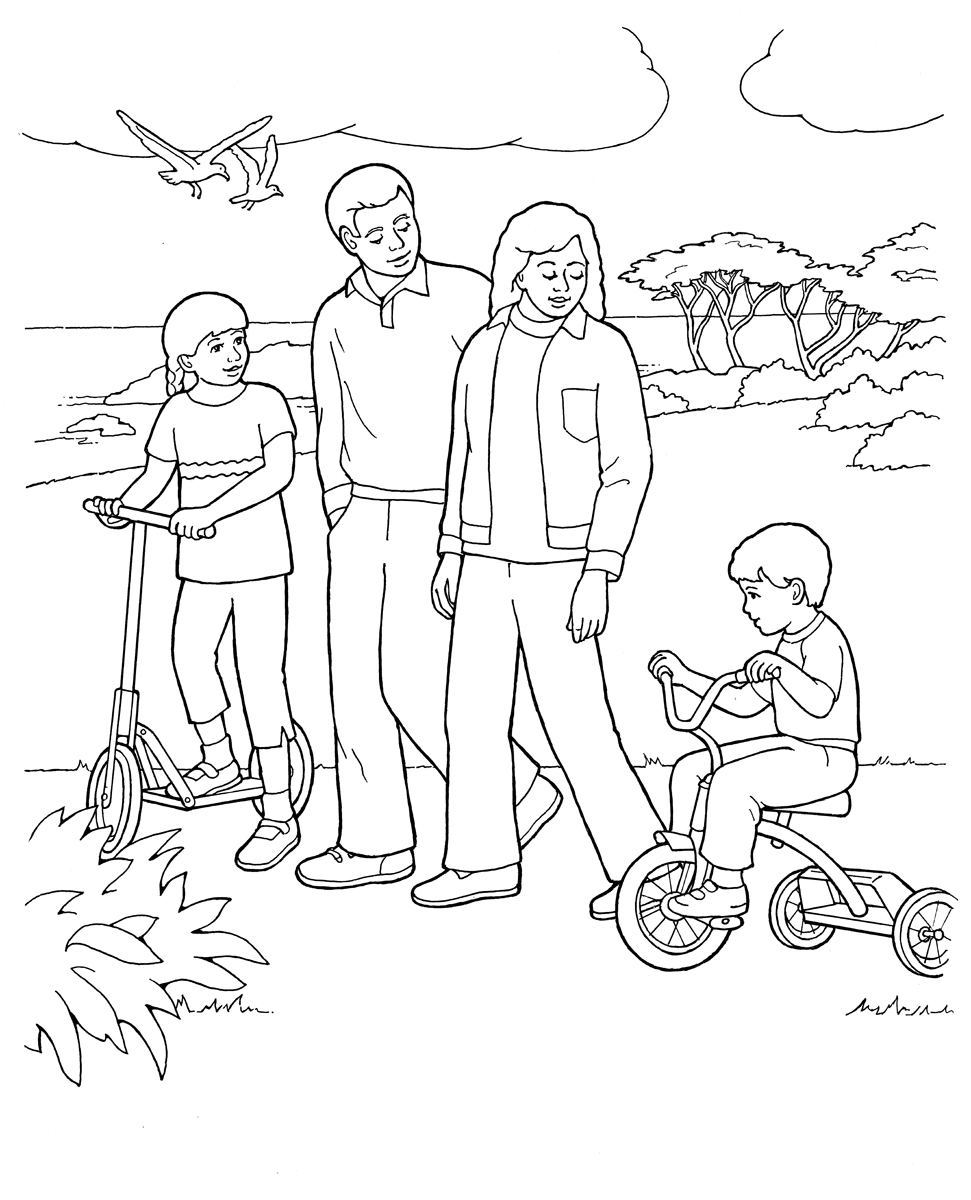 free online family coloring pages - photo#12