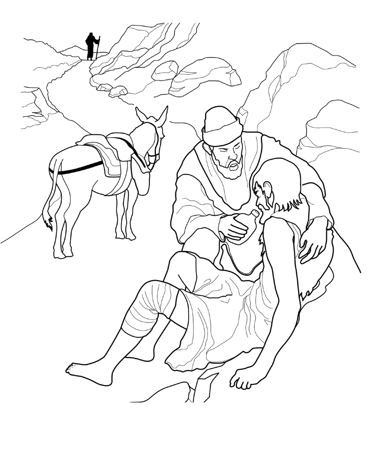 the good samaritan - The Good Samaritan Coloring Pages
