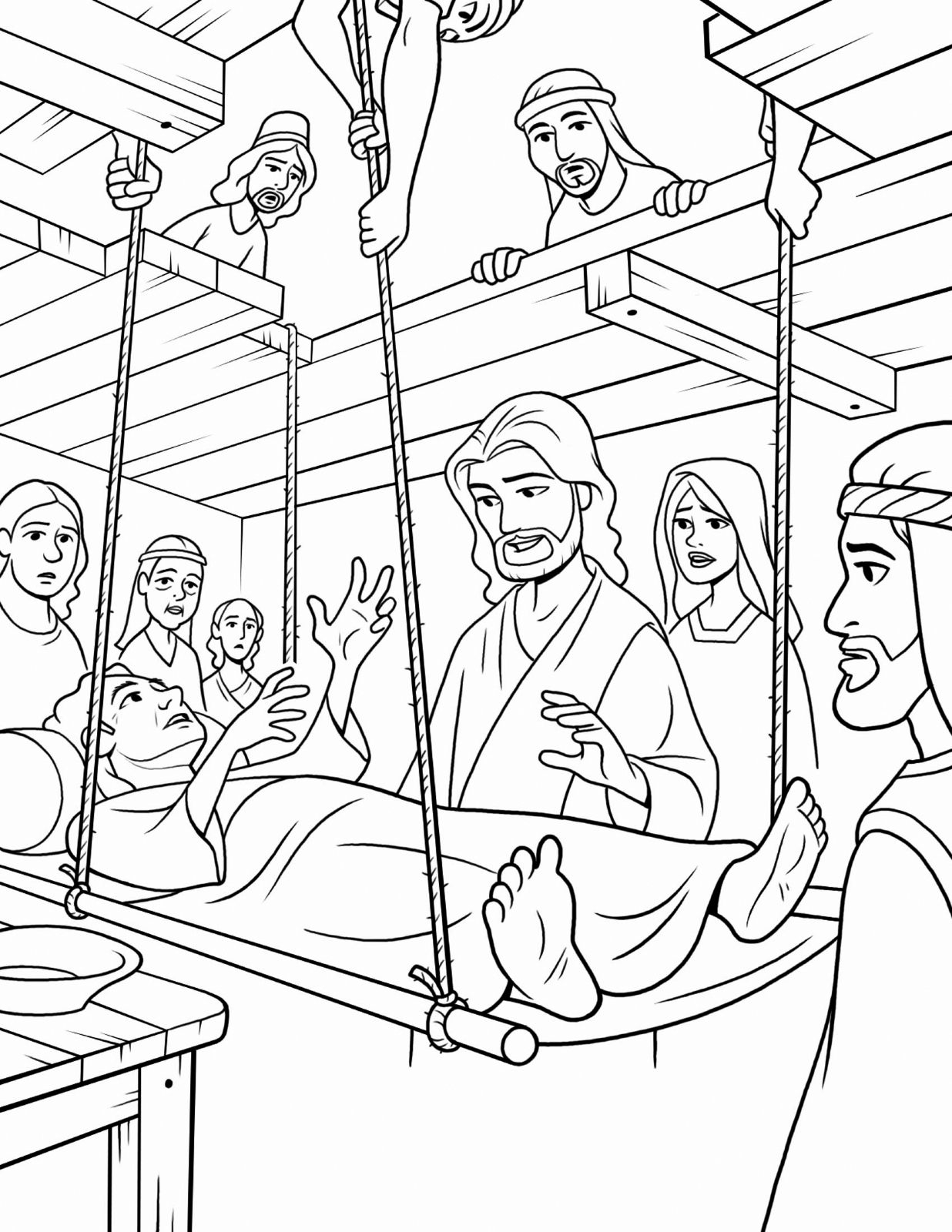 jesus miracles coloring pages | Jesus Healing the Sick