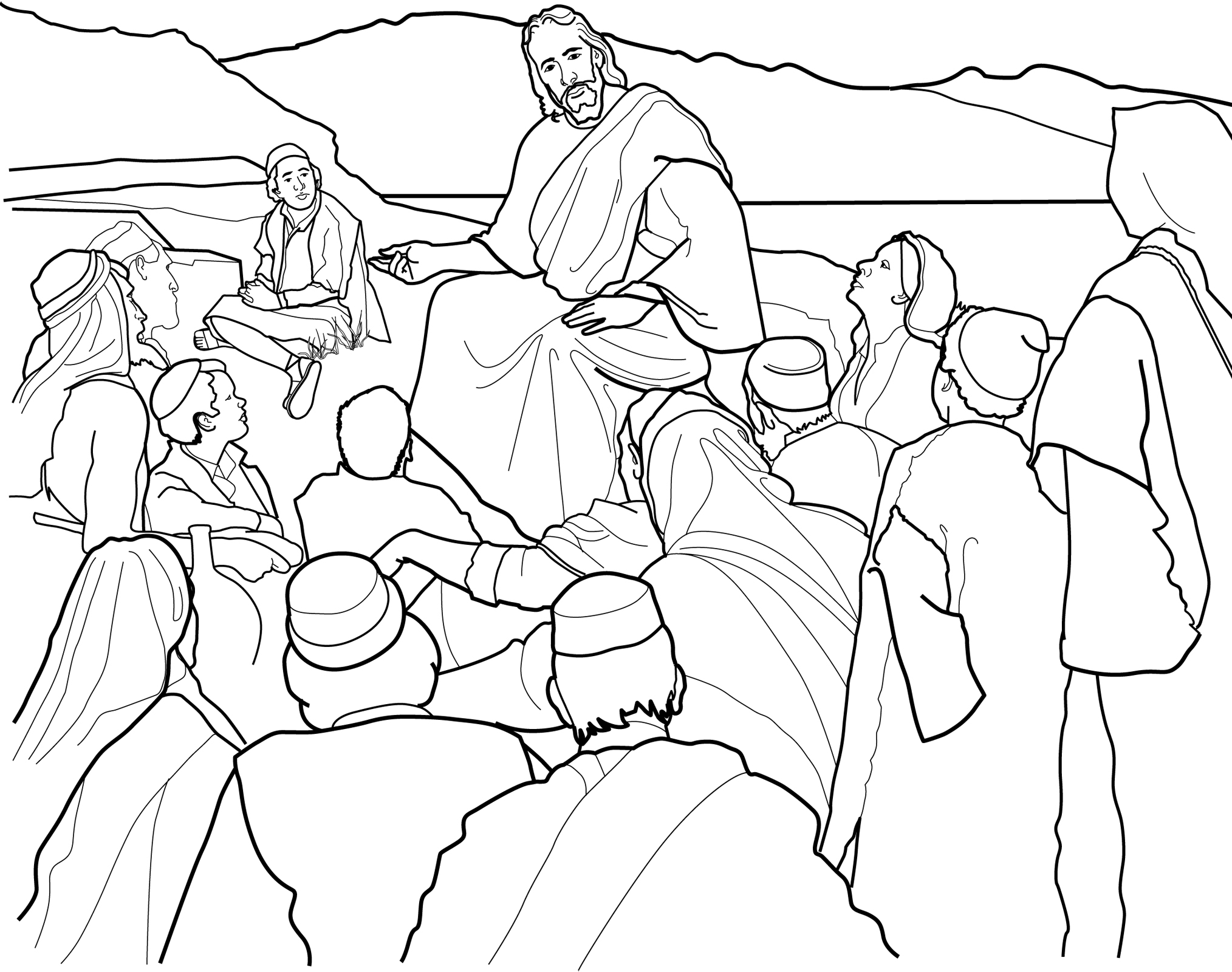 coloring pages childrens sermon - photo#1