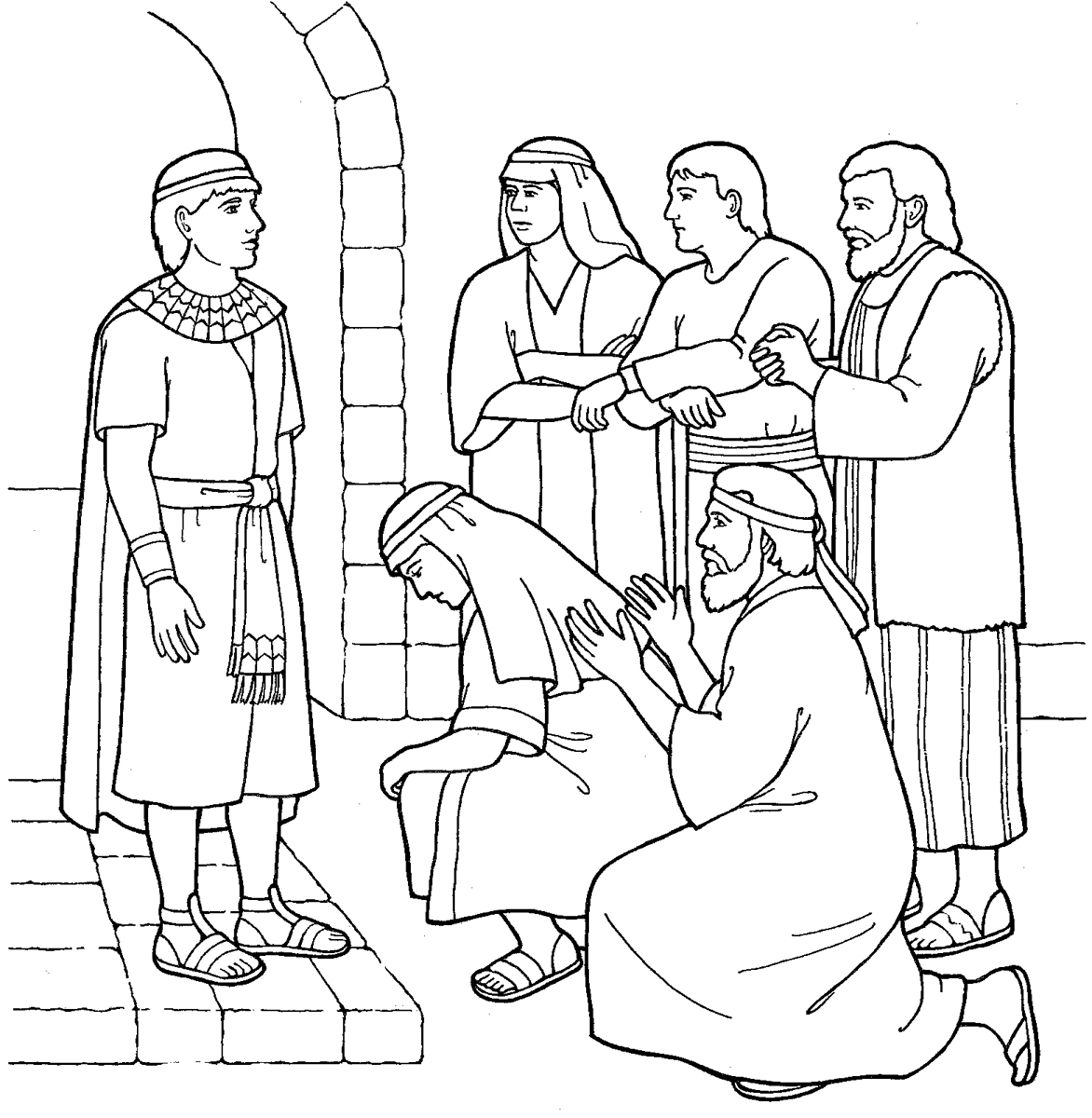 joseph in egypt coloring pages coloring pages pictures imagixs - Bible Story Coloring Pages Joseph