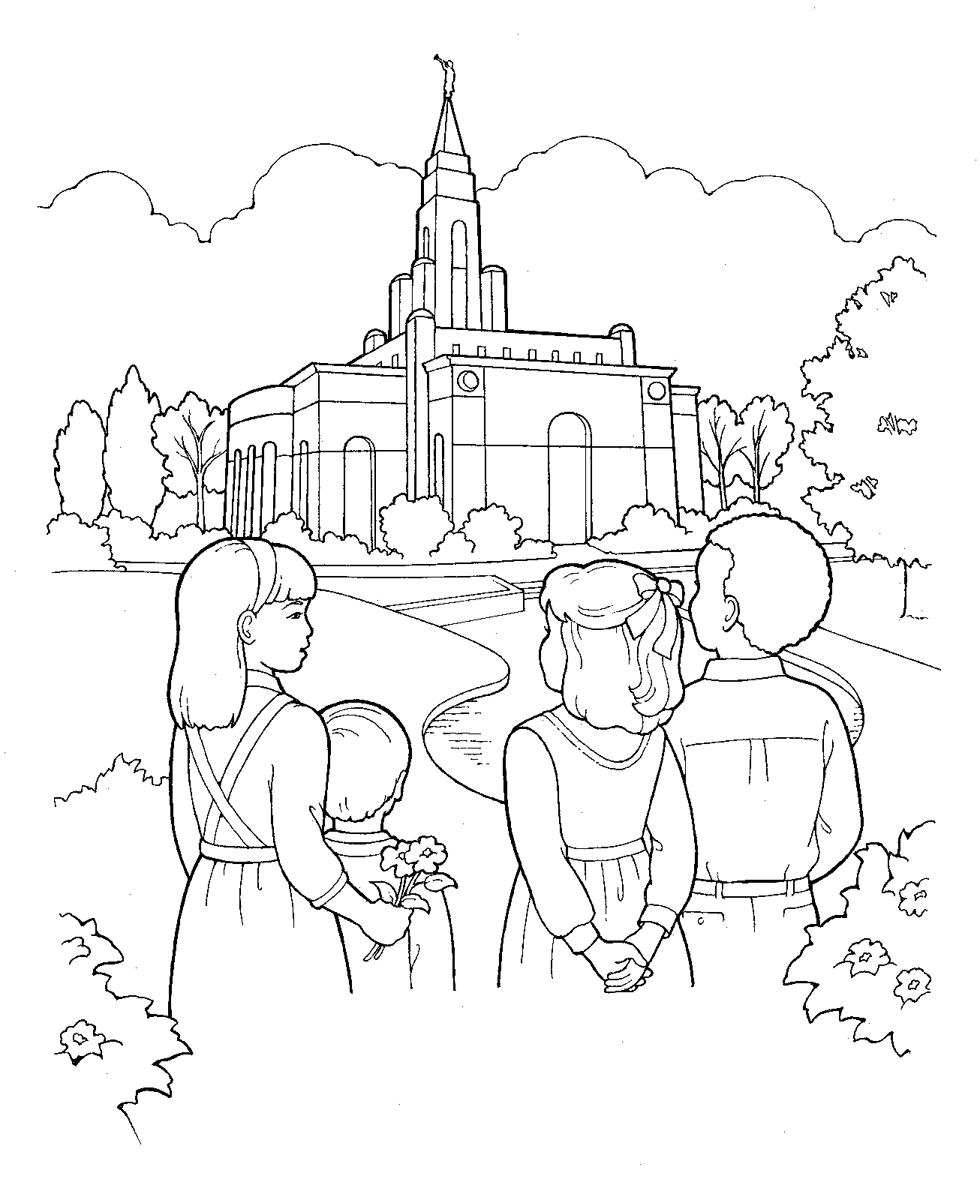 Free Coloring Pages Of Lds Temples Lds Church Coloring Pages