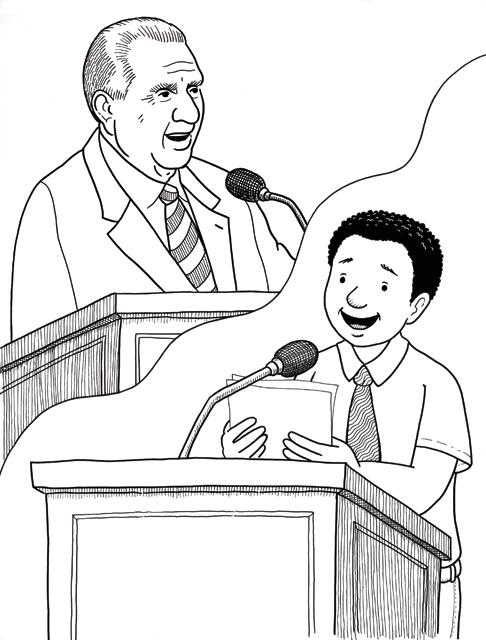 President monson speaks for President monson coloring page