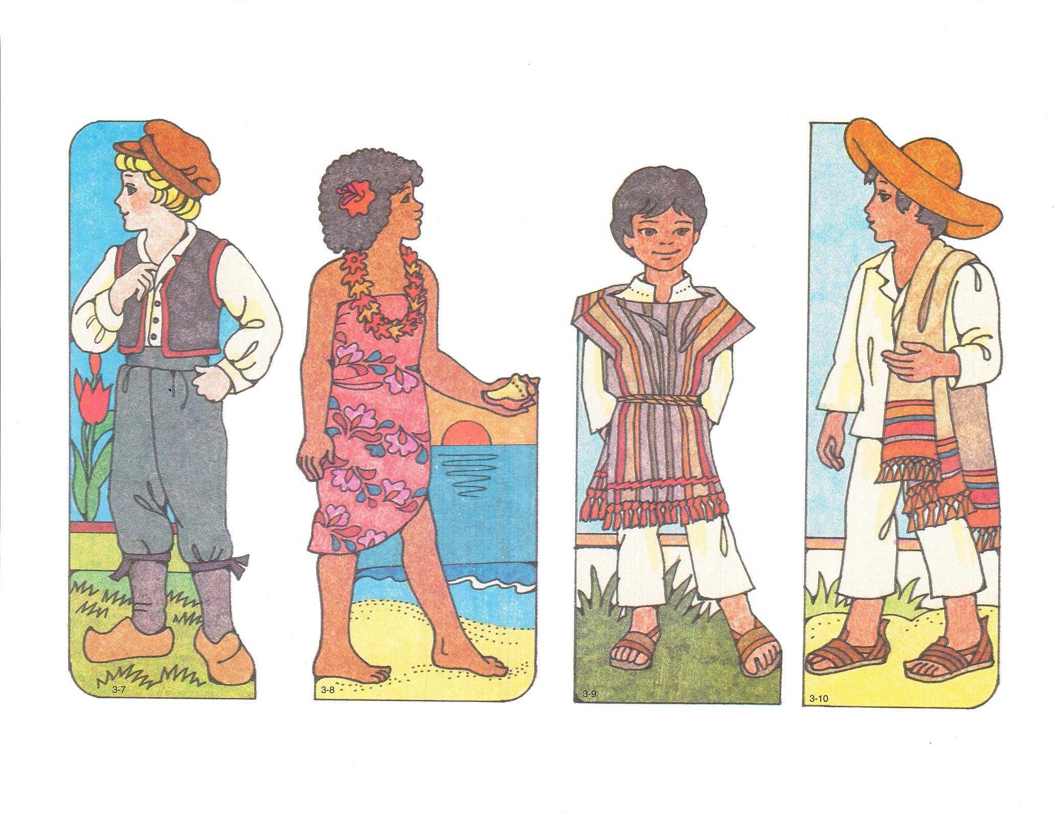Primary 3 Choose The Right B Cutouts 3 7 Dutch Boy 3 8 Fijian