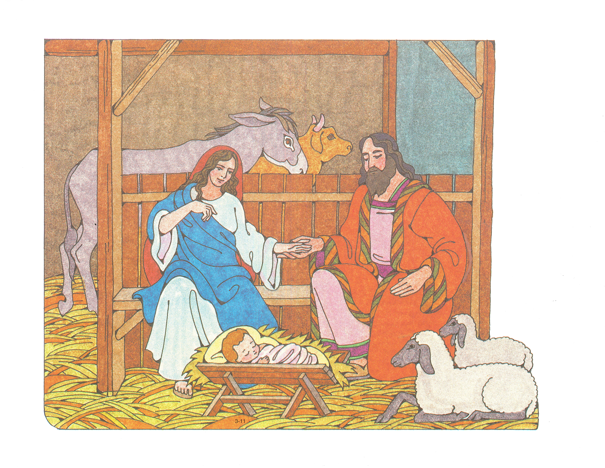 primary 3 choose the right b cutout 3 11 the birth of jesus christ