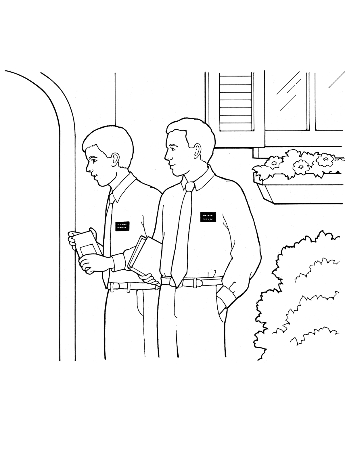 missionaries coloring pages - photo#9