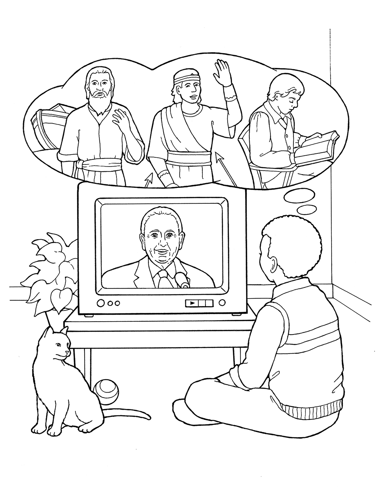 Prophet for all times for Tv coloring page