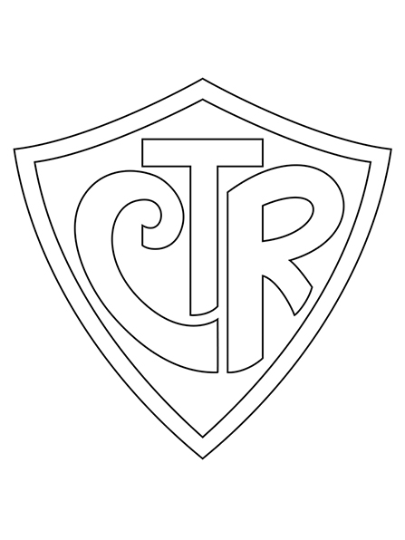 A black-and-white illustration of the CTR symbol.