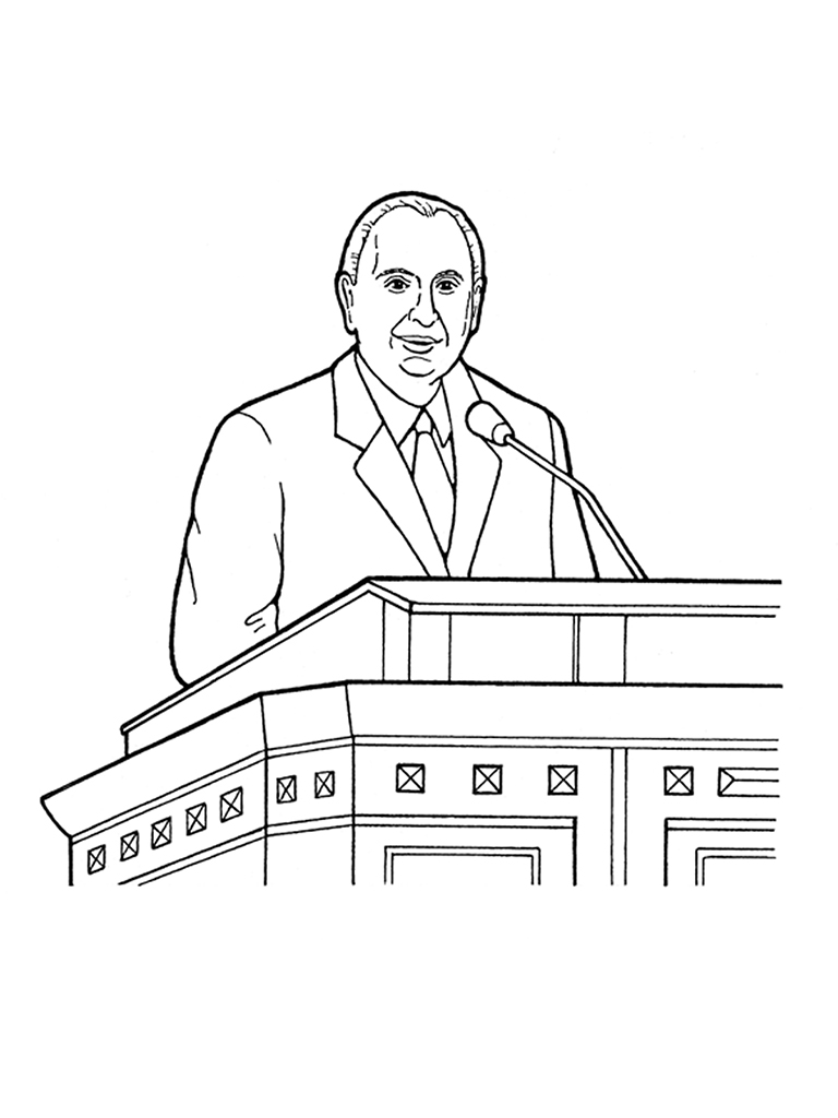 General Conference Coloring Pages Thomas Smonson Speaking At General Conference