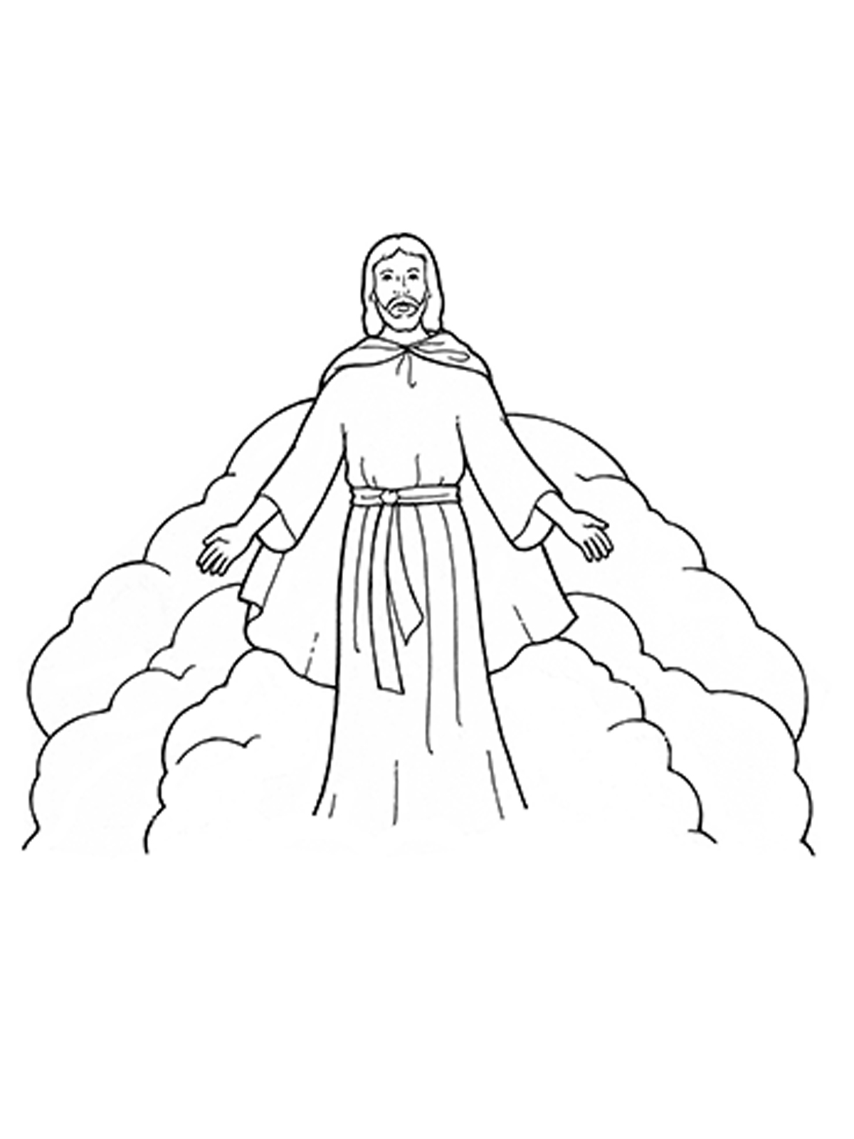 return of jesus coloring pages - photo#23