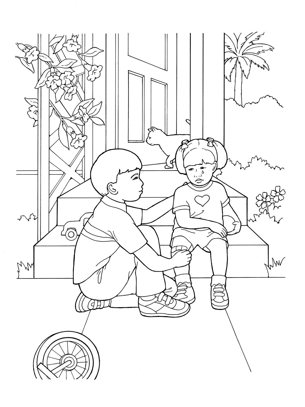 Jesus Helping Others Coloring Pages