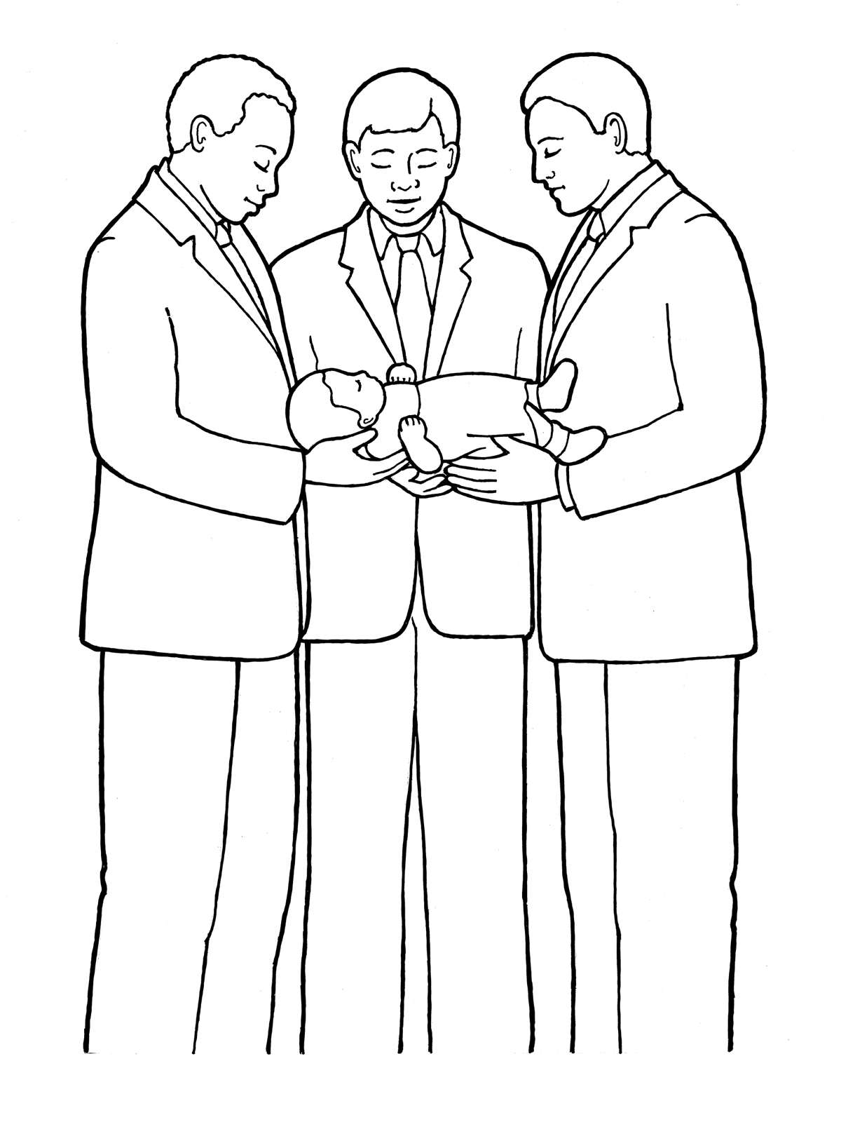 Priesthood And The Blessing Of Babies - Lds-nursery-coloring-pages