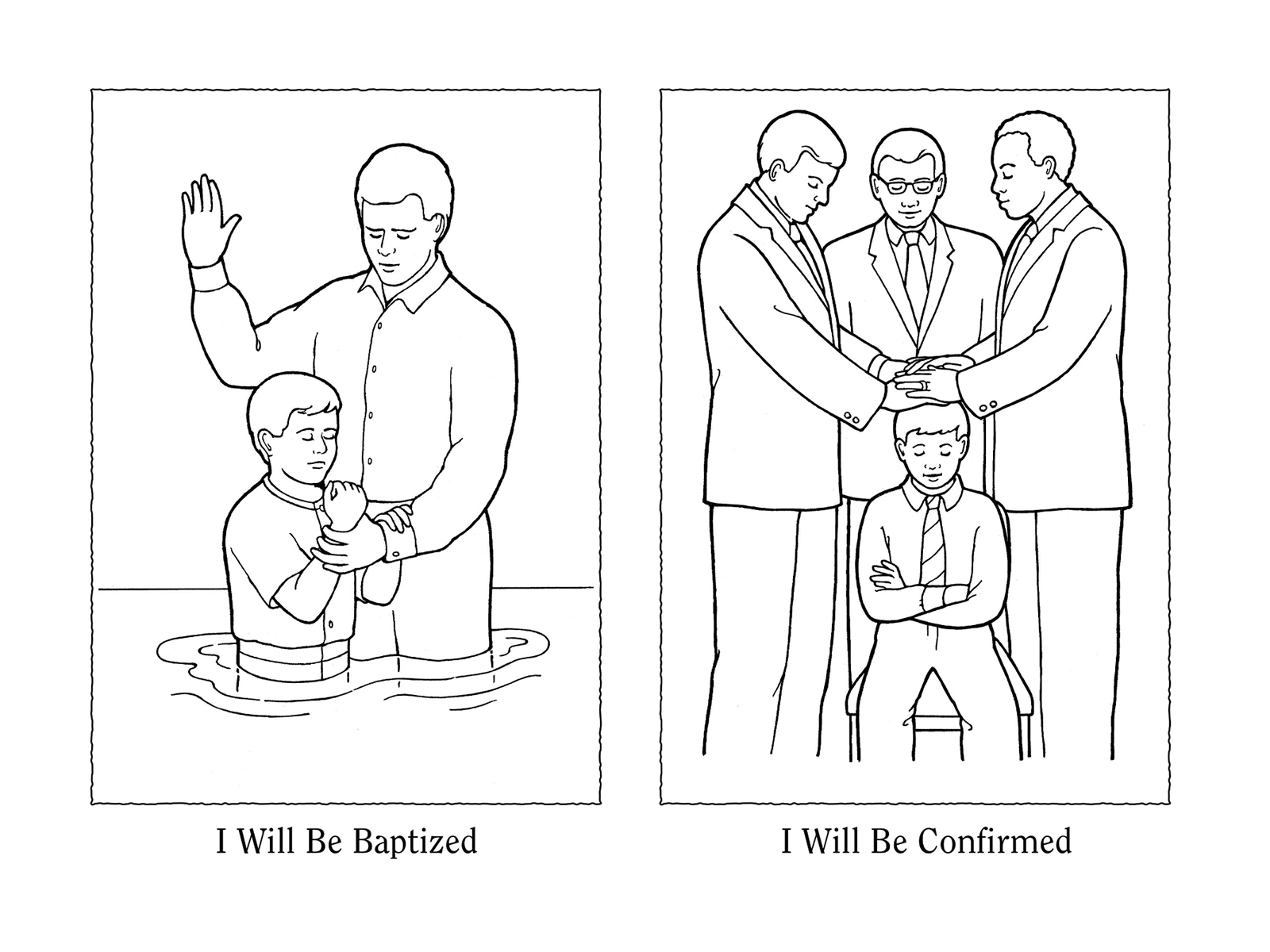 lds baptism coloring pages Nursery Manual Page 111: I Will Be Baptized and Confirmed lds baptism coloring pages