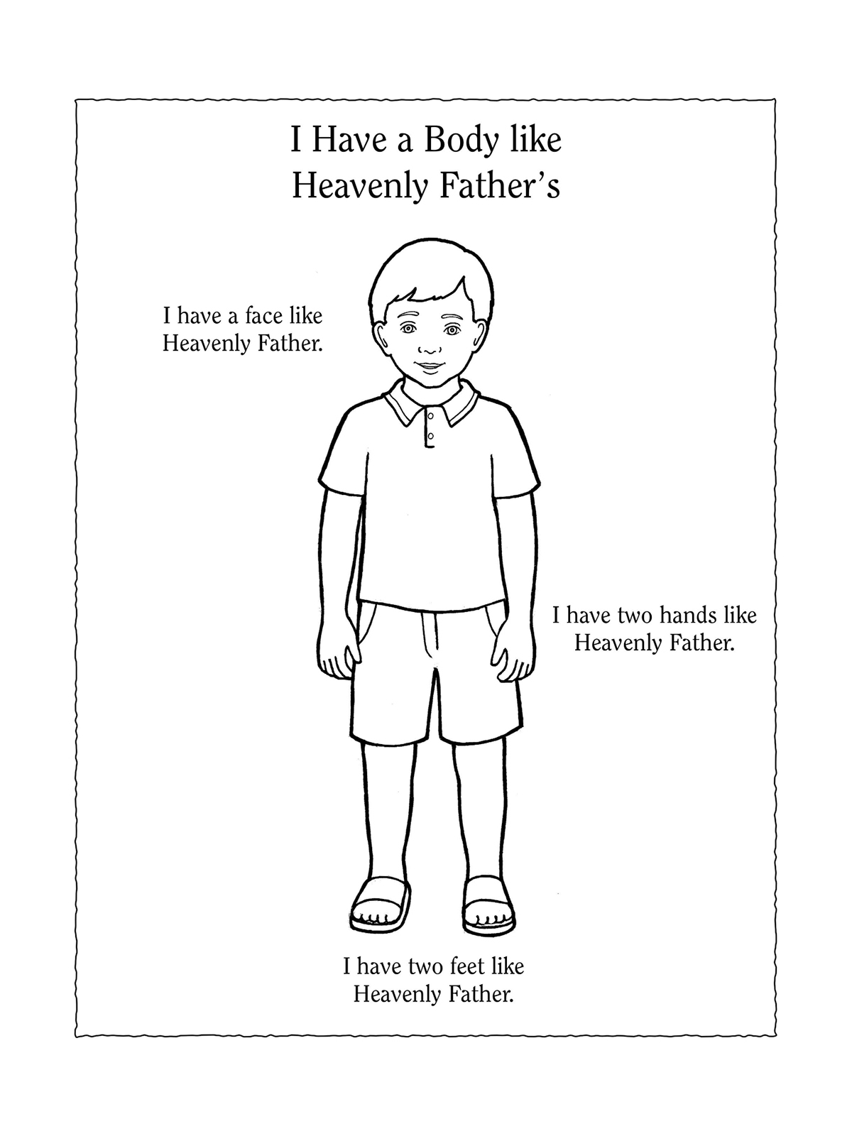 Nursery Manual Page 43 I Have A Body Like Heavenly Father S