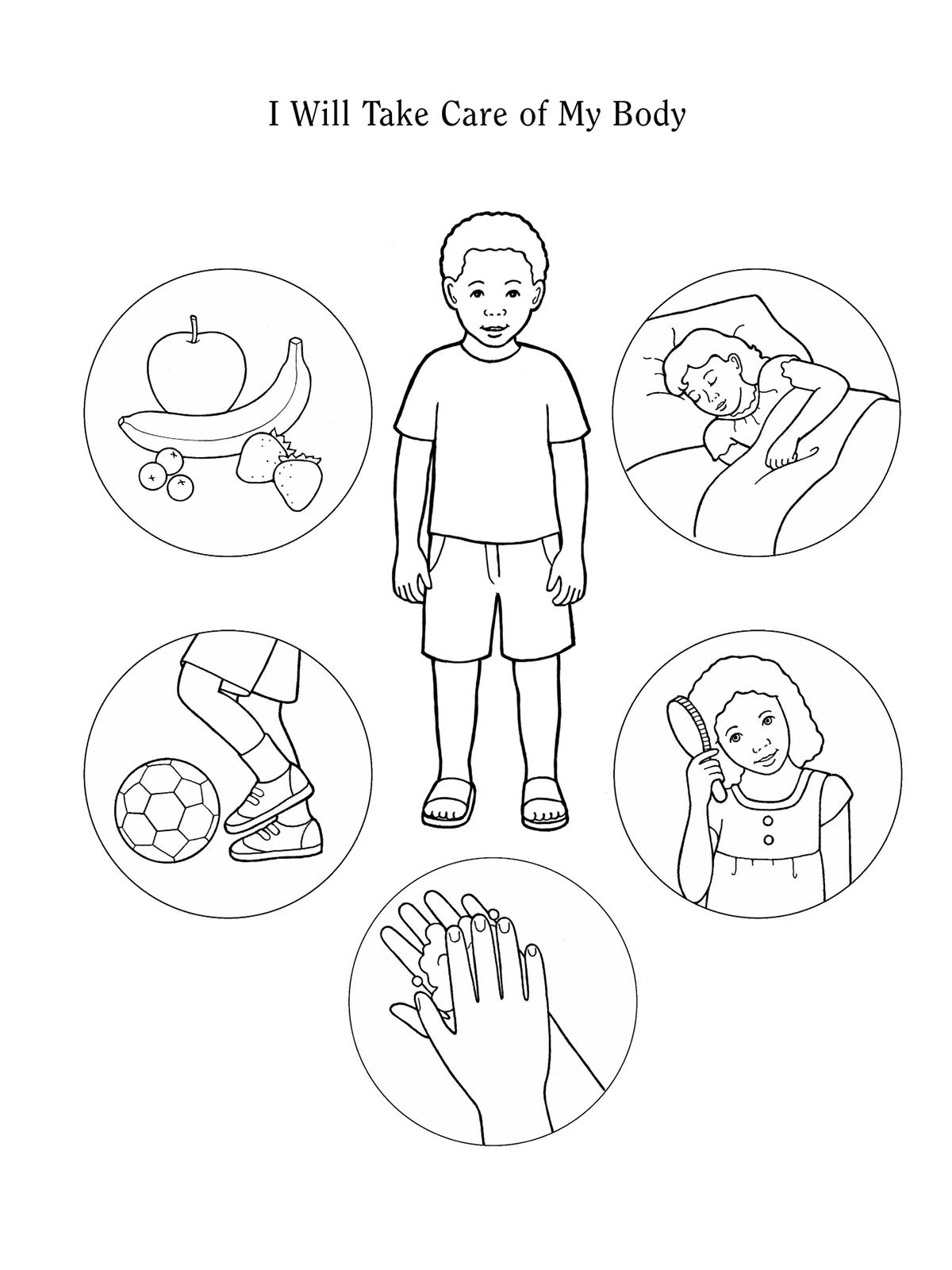Taking Care Of The Body Worksheets For Kindergarten