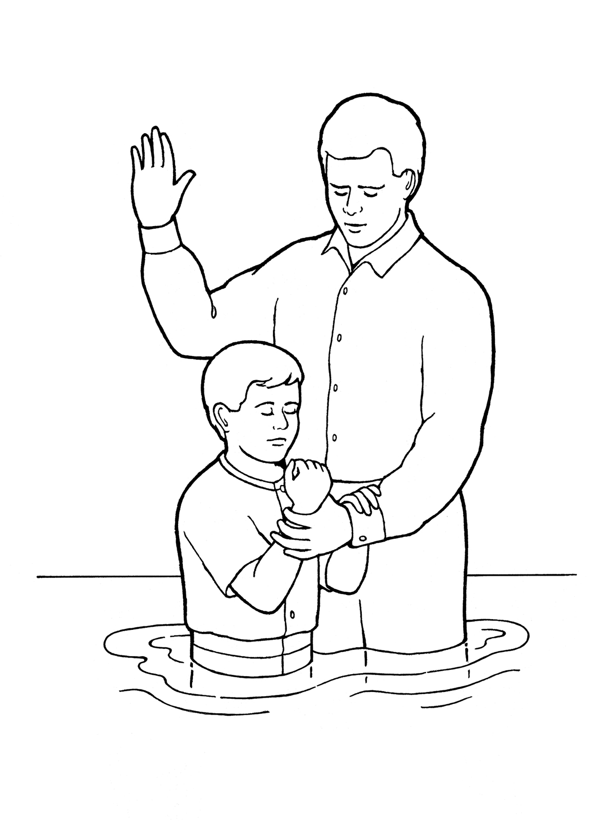 Young boy baptism share buycottarizona