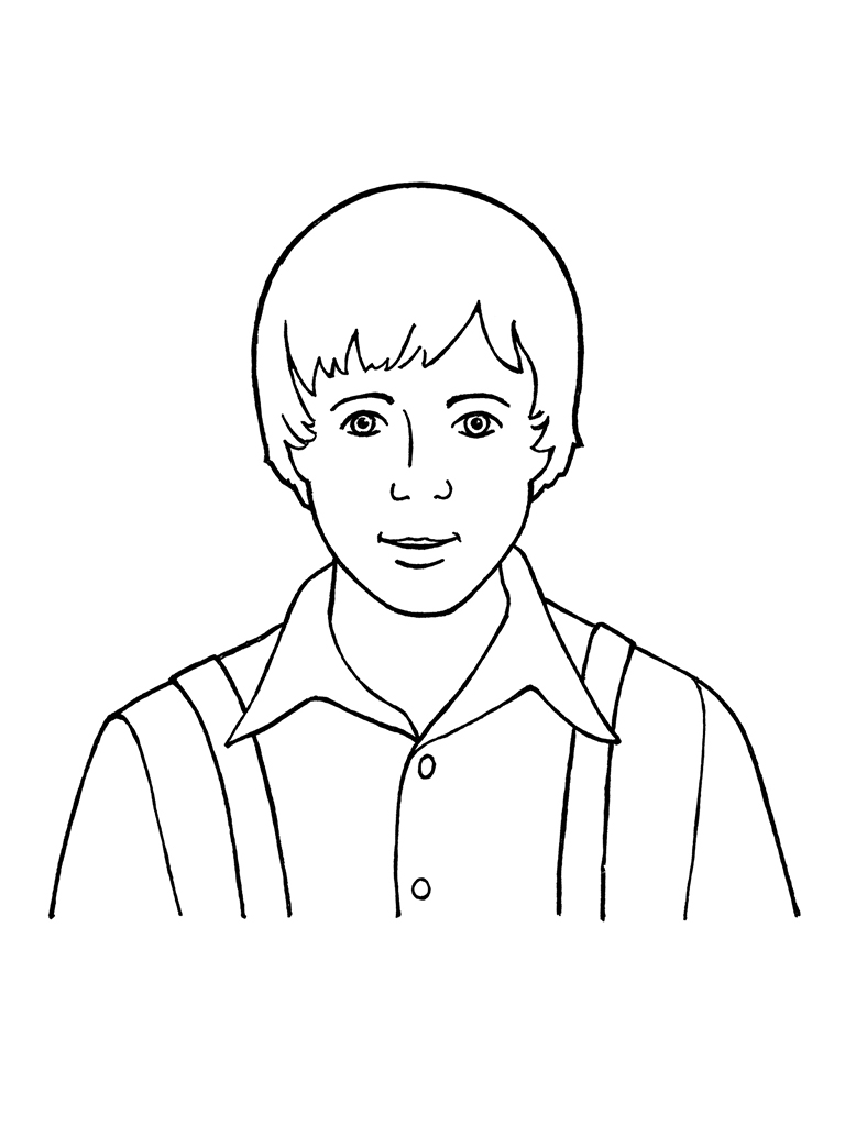 Young men face coloring pages for Coloring pages man
