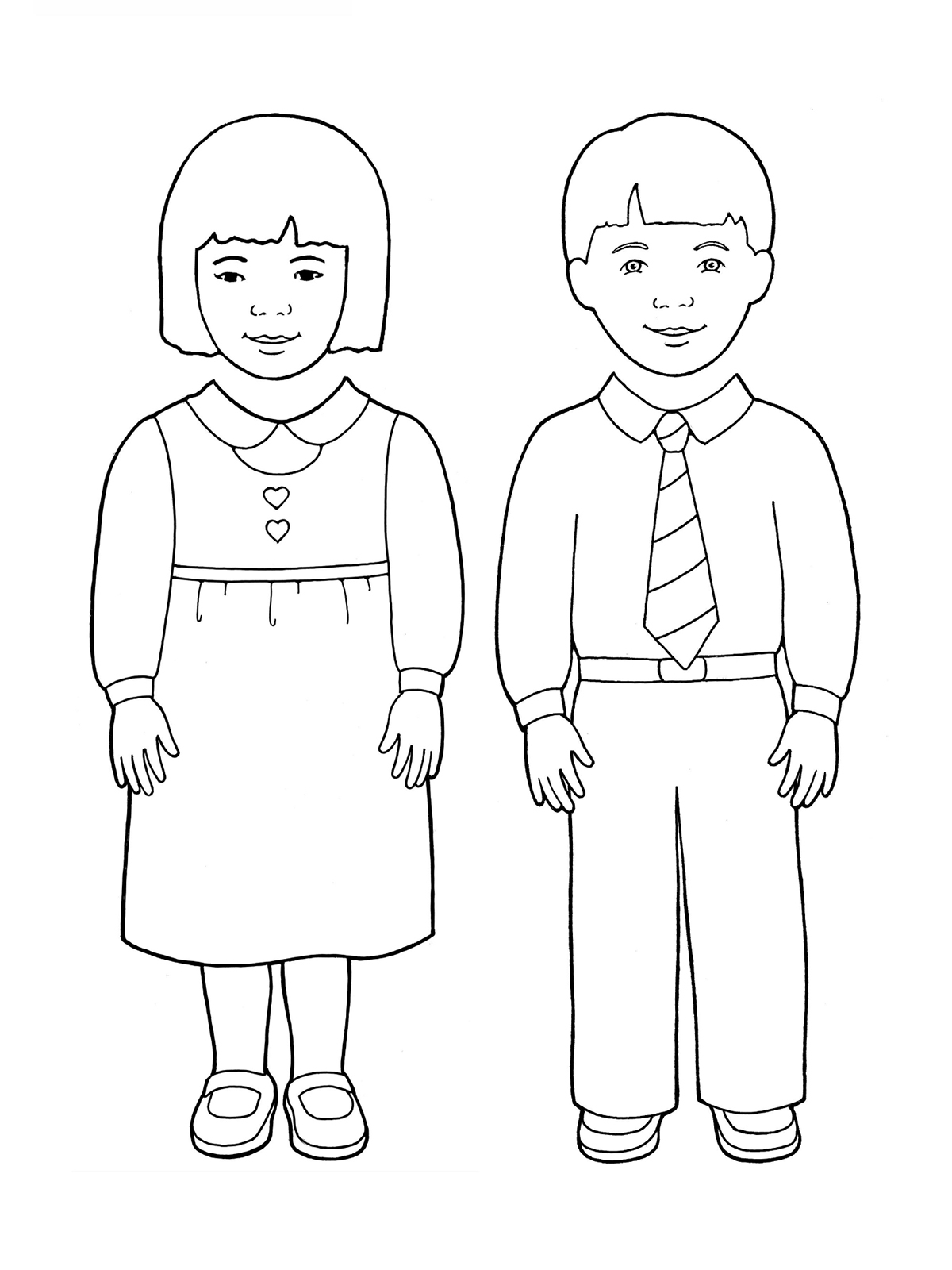 Little Boy Standing Coloring Pages