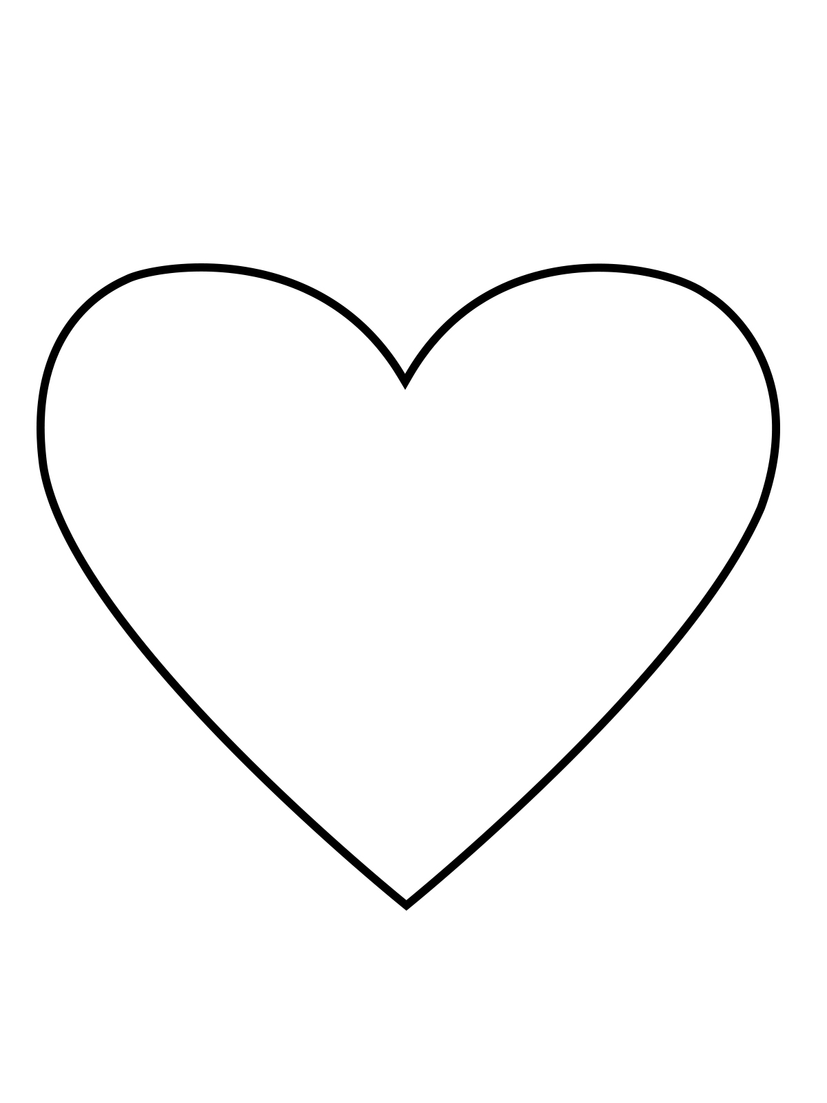 Simple Heart Line Art : Heart