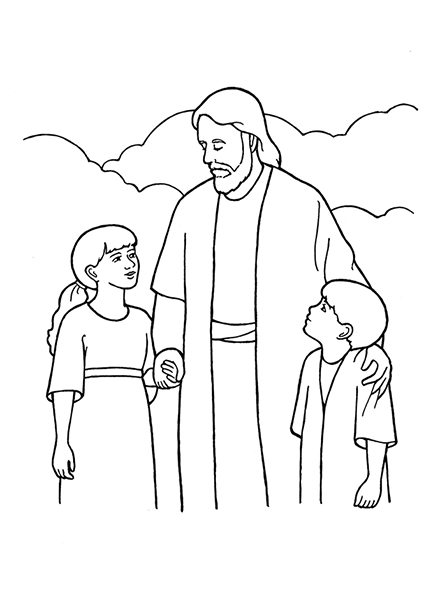 coloring pages of jesus life | Eternal Life