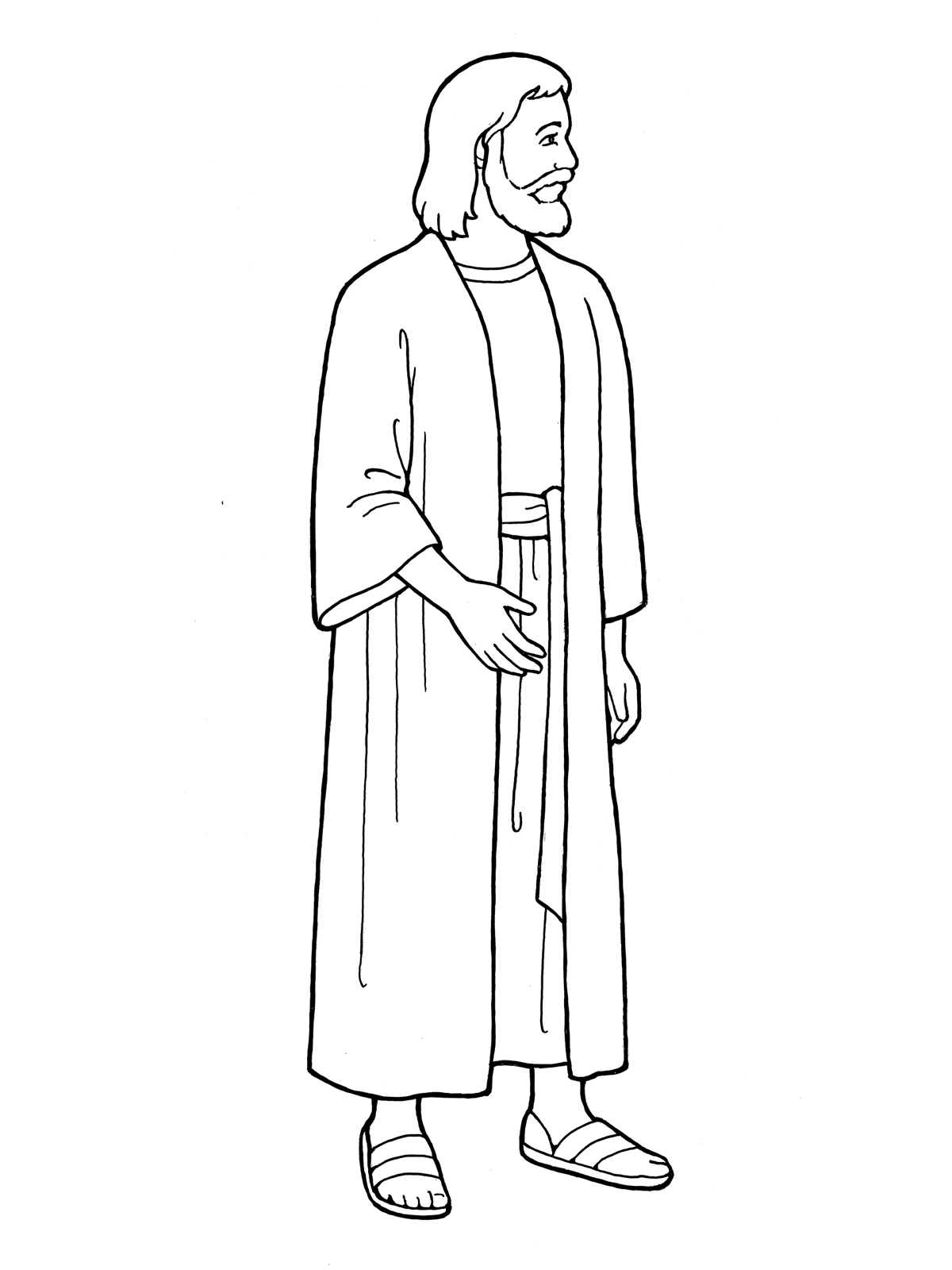 coloring pages of jesus standing - photo#1