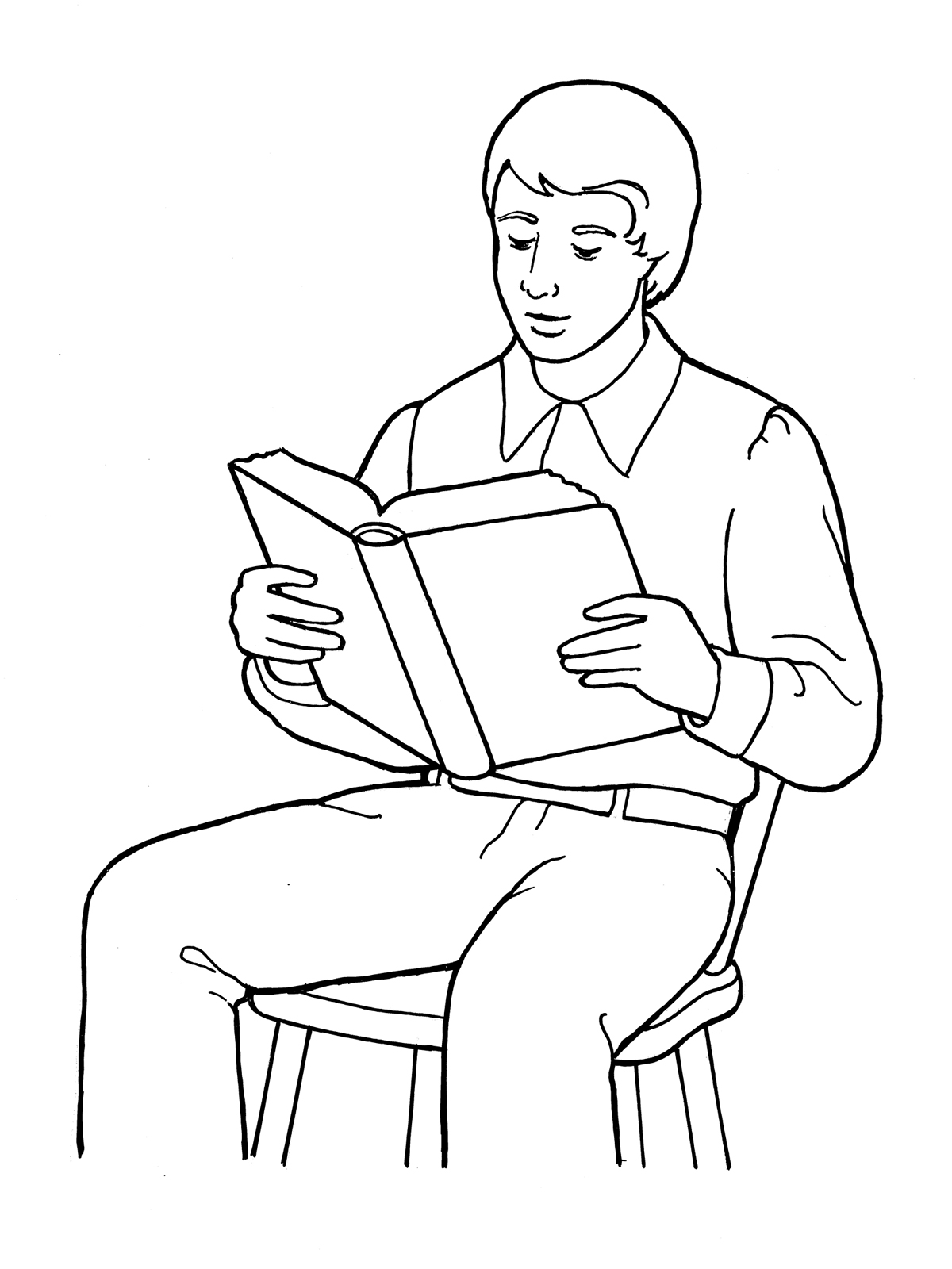 Outline Of Person Coloring Page Manual Guide