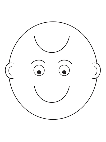 A black-and-white illustration of a face that can be seen as either a smile or a frown, depending on which way it is held.