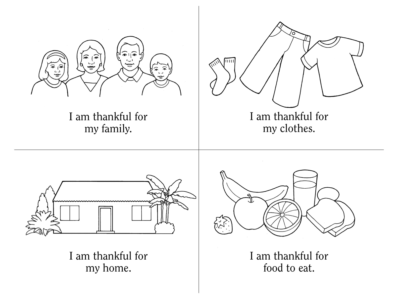 nursery manual page 67 i will be thankful CTR Shield LDS Primary Coloring Pages