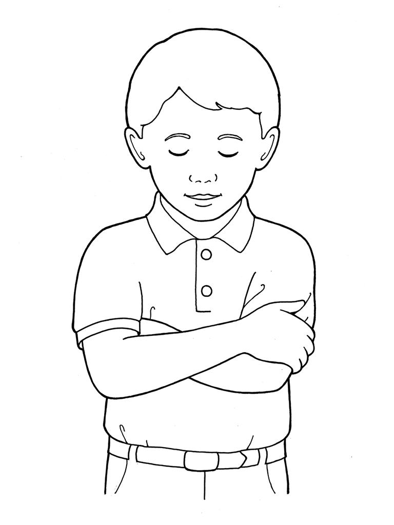 Boy Praying Coloring Page Coloring Home Boy Praying Coloring Page