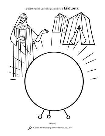 Desenho de Leí e sua tenda no deserto.
