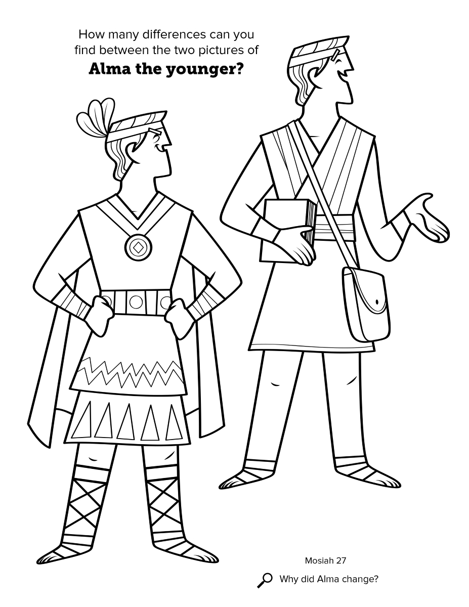 Alma The Younger LDS First Vision Coloring Page Book Of Mormon Pages For Adults